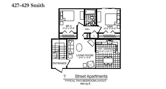 427 429 Smith Street The Birches Apartments In Scranton Pa
